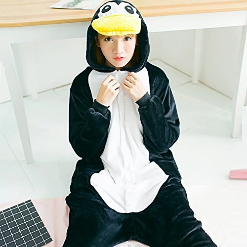 SED Unisex Adult Pyjamas - Plüsch One Piece Cosplay Tier Kostüm Winter - Plüsch Pinguin Kostüm