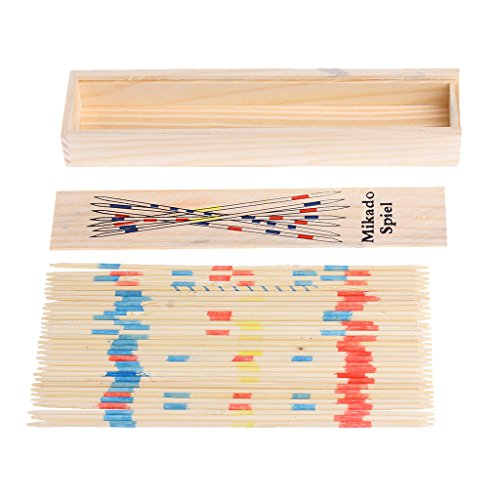 ZJL220 Traditional Mikado Spiel Holz Pick Up Sticks Set Traditionelles Spiel Mit Box Spielzeug (Up Spiel Sticks Pick)