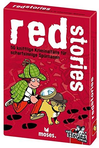 Junior red stories | 50 knifflige Kriminalfälle für scharfsinnige Spürnasen | Das Rätsel Kartenspiel für Kinder ()