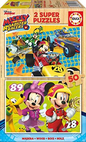 Mickey and the Roadstar Racers Puzzle 2 x 50 Piezas, (Educa Borrás 17236)