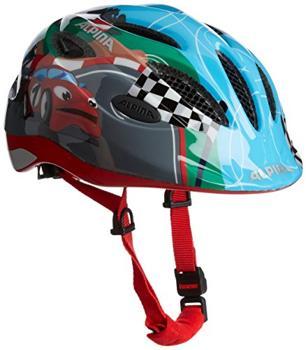 Alpina Kinder Radhelm Gamma 2.0 Flash Racing, S (46-51 cm) (Kid-bike-helm-auto)