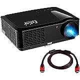 """Video Proyector - Proyector 2500 Lúmenes 1280*800 Full HD 1080P Proyector de Cine en Casa, Gran Pantalla de 200""""(508cm) para Iphone/ PC/ PS4/ TV con HDMI/ VGA 2 Altavoz incorporadas"""