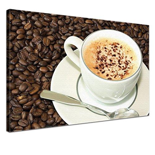 LanaKK Capuccino - Lienzo impreso, montado en bastidor, diseño de café, multicolor, 100 x 70 cm