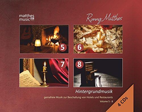 Hintergrundmusik - Gemafreie Musik zur Beschallung von Hotels & Restaurants, 4 CD-Box - Vol. 5 - 8; (Klaviermusik, Jazz & Barmusik) - Background Music (Piano Music) (Musik-cd Gema-freie)
