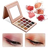palette di ombretti di lunga durata impermeabile misto colori Sunset Glitter Eyeshadow Eye Makeup (16 colori)