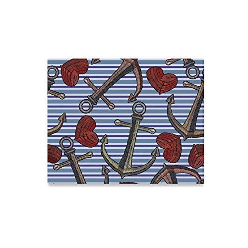 alerei Stickerei Anker Herz Blue Prints Auf Leinwand Das Bild Landschaft Bilder Öl Für Zuhause Moderne Dekoration Druck Dekor Für Wohnzimmer ()