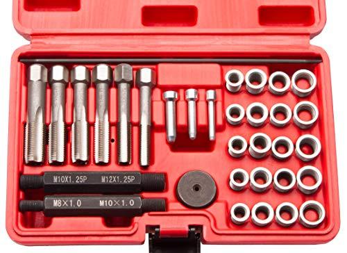ECD-Germany Kit de r/éparation de Bougies Inserts filet/és de M14 x 1,25mm Ensemble de 16 pi/èces