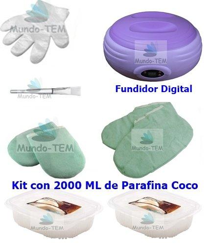 Mundo-TEM Calentador Fundidor de parafina Digital + Kit Completo, 2000 ML...