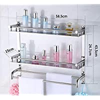 XINSU Home 304 baños de Acero Inoxidable Cuarto de baño Toalleros, mampara de Ducha en