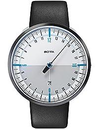 Botta Diseño de uno 24Plus Color Blanco de azul reloj de pulsera–24H einzeiger Reloj, acero inoxidable, cristal de zafiro antirreflejos, correa de piel