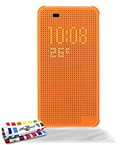 "Etui à Rabat Ultra-Slim HTC DESIRE 820 [Le Dot Touch Premium] [Orange] de MUZZANO + 3 Films de protection écran ""UltraClear"" + STYLET et CHIFFON MUZZANO® OFFERTS - La Protection Antichoc ULTIME, ELEGANTE ET DURABLE pour votre HTC DESIRE 820"