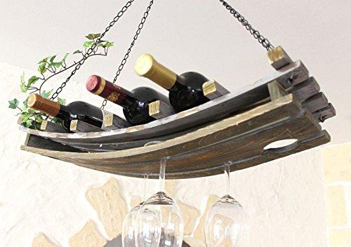Hängeregal Decke.Dandibo Weinregal 5089 Deckenregal Aus Holz 65 Cm Hängeregal Flaschenhalter Flaschenregal Mit Glashalter Decke