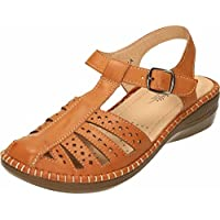53940b4f3012 ... Jenny-Wren Footwear Storefront. Womens Ladies Buckle Up Wedge Heel Faux  Leather Comfortable Summer Shoes