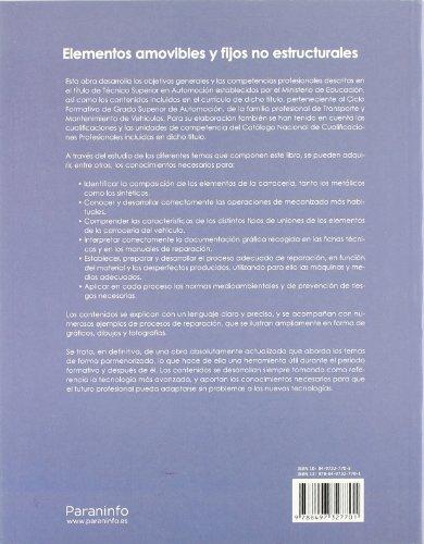 Automoción. Elementos Amovibles Y Fijos No Estructurales - 2º Edición.