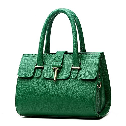 tide-cool-demeanor-atmospheric-fashion-pu-leather-ms-handbag-shoulder-messenger-bag-emerald-green