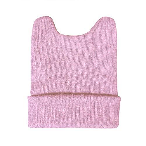 opromo Baby Teufel Hörner Schwergewicht Beanie Cap-Einheitsgröße Gr. One size, rose