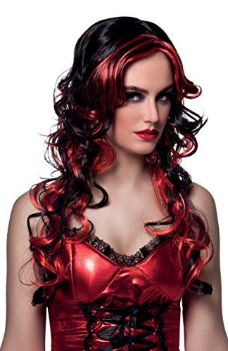 Boland- parrucca diavoletta devilicious per adulti, rosso, taglia unica, 86003