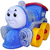 Musical Engine Toy Locomotive Engine by CIERN in Multicolour Toy Train Engine with Lights, Bump and Go Action