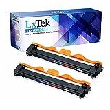 2 LxTek® Premium Megafüllmenge Toner XXL kompatibel für Brother TN-1050 HL-1110 DCP-1510 MFC-1910 W MFC1815 MFC1910 MFC1910W MFC1911NW Black Schwarz TN1050 TN-1050