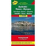 Freytag Berndt Autokarten, Chalkidiki - Thassos - Olympos - Maßstab 1:150 000 (freytag & berndt Auto + Freizeitkarten)