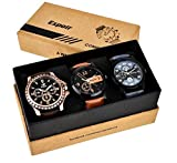 #10: Espoir Analogue Black Dial Men's Watch - Combo BLK Kranti New