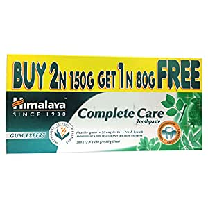 Himalaya Herbals Complete Care Toothpaste - 380 g (Buy 2 and Get 1 Free Worth Rupees 80 g)