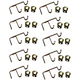 HomeDecorax Traders Strong Double SS Antique Brackets for 2 Curtain Rods with Antique End Caps Pack of (10 Supports & 20 End Caps)