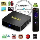 Android 8.1 TV Box, 4GB 32GB LinStar MX10 Smart 4K TV Box RK3328 Quad Cora CPU 2.4G Wifi Set Top Box 3D 4K Ultra HD TV