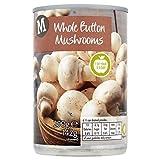 Morrisons Whole Button Mushrooms, 290g