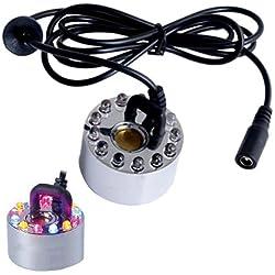 Brumisateur Diffuseur Fogger Brume Ultra-Sonique 12 LED