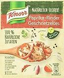 Knorr Natürlich Lecker! Paprika-Rinder Geschnetzeltes für 3 Portionen, 23er Pack (23 x 31 g)