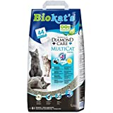 Biokat's Diamond Care Multicat Fresh Katzenstreu mit Duft – staubfreie Klumpstreu mit Aktivkohle und Cotton Blossom Duft – 1 Papierbeutel (1 x  8 L)