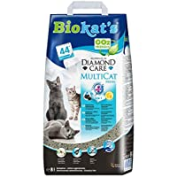 Biokat's Diamond Care Multicat Fresh Katzenstreu mit Duft – staubfreie Klumpstreu mit Aktivkohle und Cotton Blossom Duft – 1 Sack (1 x  8 L)