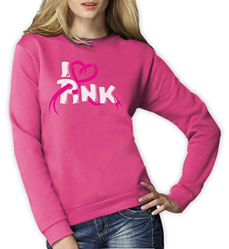 im Kampf gegen Brustkrebs Frauen Sweatshirt XX-Large Rosa (Breast Cancer Awareness Apparel)