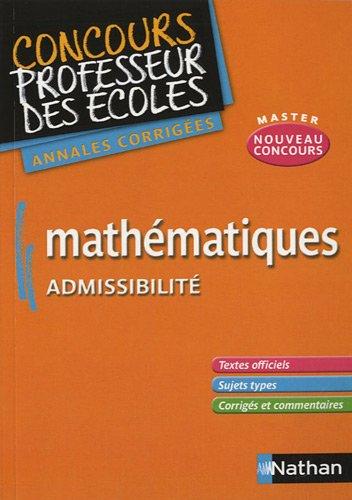 Mathématiques admissibilité : Annales corrigés CRPE