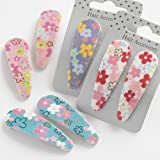 Hair Slides With Pastel Flowers