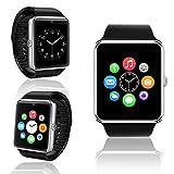 inDigi Bluetooth Smart Black Leather Wrist Watch Phone for All Apple iOS Samsung