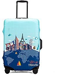 3D Chevron Pattern Print Luggage Protector Travel Luggage Cover Trolley Case Protective Cover Fits 18-32 Inch