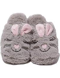 Zapato Damen Plüschhausschuhe Plüsch Puschen Schuhe Slipper lustige  Tierhausschuhe Hase Bunny… ec13ff9dae
