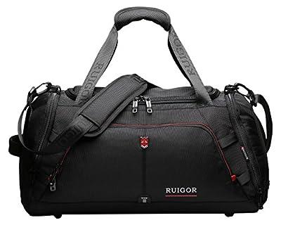 Ruigor RGL6407 - Multifunktionaler Reisetasche 32l wasserdichte Sporttasche mit Schufach und verstellbaren Schulterband