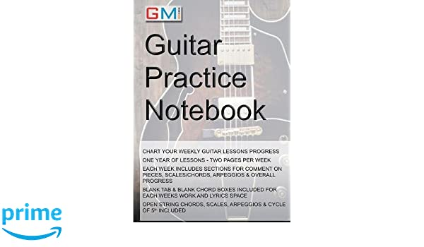 Guitar Practice Notebook Amazon Mr Ged Brockie Books