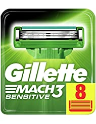 Gillette Mach3 Peaux Sensibles Lames De Rasoir Pour Homme - 8Recharges