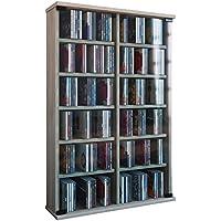 VCM Roma - Torre para CD/DVD, para 300 CDs,  color Roble Sonoma, dimensiones 92x60x18 cm