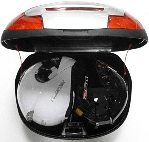 Bauletto Moto Scooter top box 43 Litri indietro scatola, bagagliaio moto scatola top caso, Argento