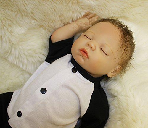 ZIYIUI 20 ' 50cm Bambolotti Silicone Realistico Rinato Bambino Bambola con Manichino Magnetico Soft Silicone Doll Giocattoli Regali