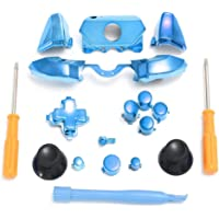 C-FUNN Replacement Chrome Controller Bumper Trigger Buttons For Xbox One Elite W/Tools - Blue