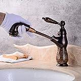 XINXI Home Rubinetti Tutti i rubinetti per lavello a Caldo e Freddo in Rame a tiraggio Antico Tappe per palcoscenico antichi sul lavabo Rubinetto telescopico B