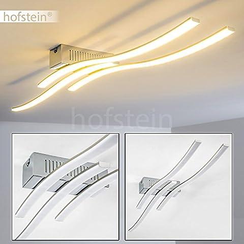 Plafonnier LED Birches aux lignes épurées pour un design moderne – Luminaire intérieur qui habillera parfaitement séjour, cuisine et salle à manger - Eclairage salon associant élégance et