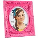 Present Time Silly - Marco de fotos (plástico, tamaño grande), diseño barroco, color rosa