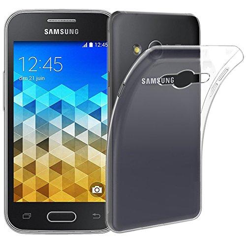 ebestStar - Compatibile Cover Samsung Galaxy Trend 2 Lite SM-G318H, Galaxy V Plus Custodia Trasparente Silicone Gel TPU Protezione Morbida e Sottile, Trasparente [Apparecchio: 121.4x62.9x10.7mm 4.0']